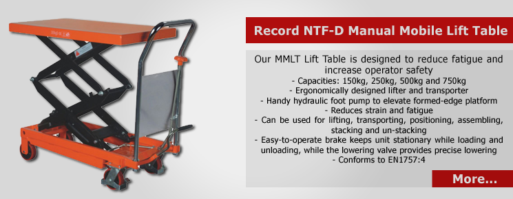 NTF-D Manual Mobile Lift Table